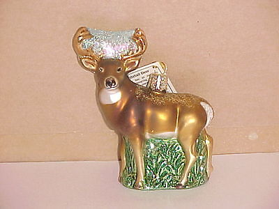 Whitetailed DEER Old World Christmas glass ornament