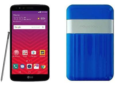 Virgin Mobile Lg Stylo 3 With Powerocks Cirrus Power Bank Blue