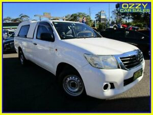 2011 Toyota Hilux GGN15R MY12 SR White 5 Speed Automatic Cab Chassis Penrith Penrith Area Preview