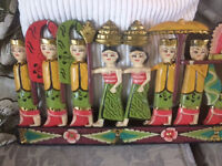 Wooden decorative wall hanging