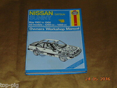 1) Nissan Datsun Sunny Owners Workshop Manual May 1982 - 1986 Haynes.