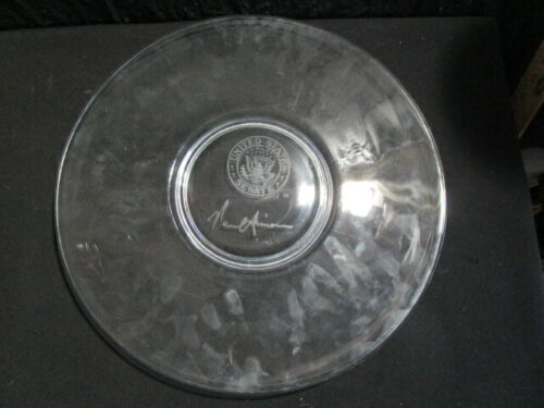 """Signed  -  Crystal Clear  -  United States Senate  -  13"""" Flat Charger"""