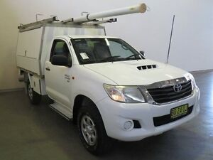 2012 Toyota Hilux KUN26R MY12 SR (4x4) Glacier White 5 Speed Manual Cab Chassis Westdale Tamworth City Preview