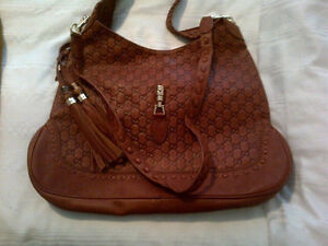 Brown Tan Leather Bag w/ Dust Bag