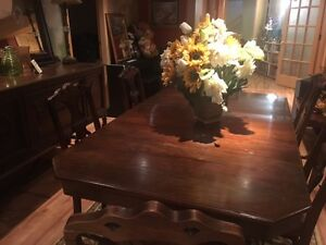 Elegant Solid Wood Antique Dining Room Set