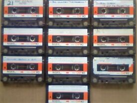 JL CHF#1 BARGAIN BIN = 10 SONY CHF 90 1978-1981 CASSETTE TAPES FOR £10 W/ CARDS CASES LABELS