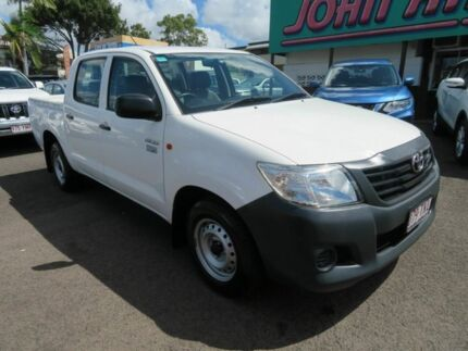 2013 Toyota Hilux TGN16R MY12 Workmate Double Cab 4x2 White 4 Speed Automatic Utility Mount Gravatt Brisbane South East Preview