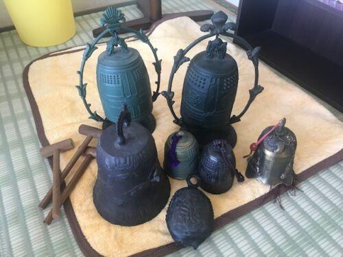 Japanese Antique Bronze Temple 8 Bell 15cm