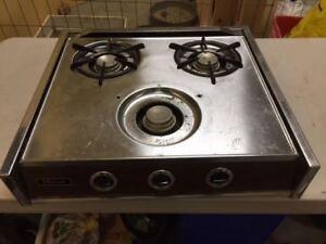 Camper stove top