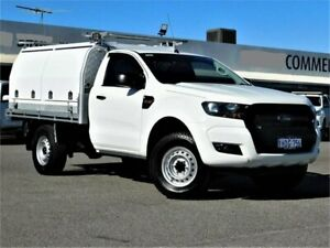 2016 Ford Ranger PX MkII XL Hi-Rider White 6 Speed Sports Automatic Cab Chassis Bibra Lake Cockburn Area Preview