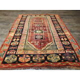 Ca1930s VG DY ANTIQUE PERSIAN QASHQAI YALAMEH SERAPI HERIZ 5x7 ESTATE SALE  RUG
