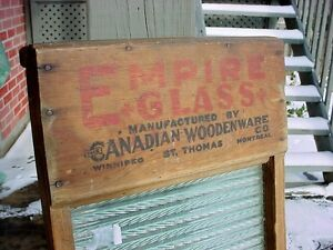 Antique Empire Glass1890s wooden & glass St Thomas washboard