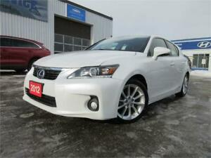 2012 Lexus CT 200h-HYBRID,SUN ROOF,LEATHER,ALLOYS,WARANTY,$14650