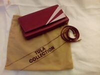 TULA handbag, burgundy with pink, excellent condition, comes from a smoke and pet free home.