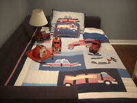 Boys Fireman & Policeman bedding + accessories