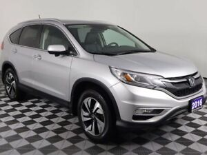 2016 Honda CR-V TOURING w/HEATED LEATHER, MOONROOF, DUAL CLIMATE