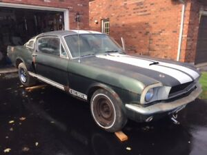 1966 Mustang Fastback  GT K Project with Shelby Parts For Sale
