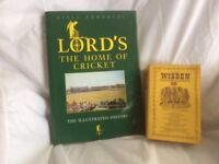 cricket books for sale; Wisden 1980 and Lords cricket Ground