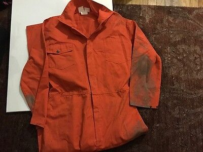 Eric's Donnie Wahlberg  coveralls worn in cell in Saw 4 Jigsaw with certificate