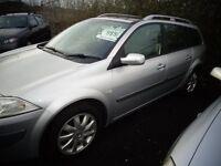 2007(56reg) Renault Megane Estate Car 1.6 Petrol 1 Year MOT £995