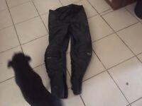 shoei leather motorcycle trousers
