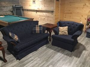 Sofa set, end tales, coffee table and tv stand