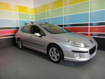 2008 Peugeot 407 MY07 ST HDI Touring Silver 6 Speed Tiptronic Wagon Wangara Wanneroo Area Preview