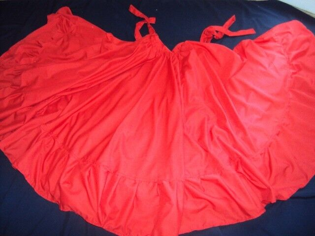 Mexican Folkloric Practice Skirt,Double Circle,Size S-M