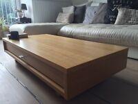 John Lewis Oak Coffee Table w/ Drawer