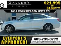2014 Volkswagen Jetta TDI DSG $169 bi-weekly APPLY NOW DRIVE NOW