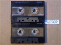 A2Z 2x RARE GUARANTEED SONY UCX 90 PREMIUM CHROME CASSETTE TAPES 1985 W/ CCLs & FREE P&P
