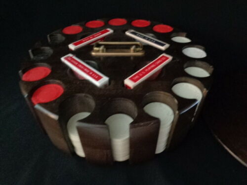 Poker Gambling Wood  Carousel 16 slots EXTRA LARGE