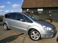 0707 FORD S-MAX 1.8TDCi TURBO DIESEL 6 SPEED TITANIUM 7 SEATER 88K FSH 10 STAMPS