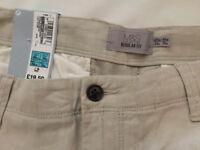 Regular fit linen blend trousers