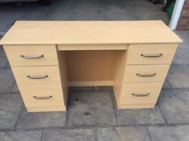 Small 6 drawer light beech colour