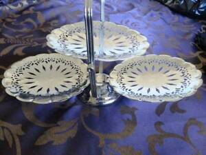 Three tiered Cake Stand / Platter - Perfect for High Tea Folds up Brassall Ipswich City Preview
