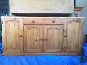 PINE DRESSER and SIDEBOARD