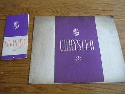CHRYSLER RANGE BROCHURE, 1939