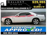 2013 DODGE CHALLENGER R/T *EVERYONE APPROVED* $0 DOWN $199/BW!