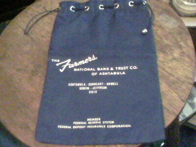 deposit bag  from The Farmers National Bank & Trust Co. of Ashtabula  ed16