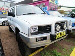 2000 Mitsubishi Triton MK MY01 GLX Double Cab 4x2 White 4 Speed Automatic Utility Minchinbury Blacktown Area Preview