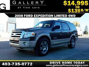 2008 Ford Expedition LTD. 4WD $139 biweekly APPLY NOW DRIVE NOW