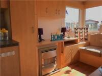Family 8 berth starter static caravan on the ayrshire coast , Scotland