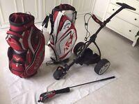 Golf Motocaddy, 2 Callaway Bags and Callaway 3 Wood