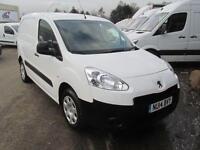Peugeot Partner L1 850 S 1.6 Hdi 92PS Van DIESEL MANUAL WHITE (2014)