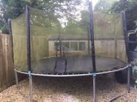 14ft Trampoline with safety net