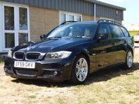 BMW 3 SERIES 2.0 320I M SPORT TOURING 5d 168 BHP M SPORT TOURING (black) 2010