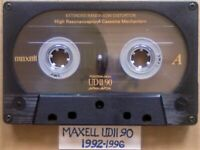 A2Z #2 MAXELL UDII 90 XLII 90 XL IOO XL 90 1991-1996 CASSETTE TAPES We have more available. Lots.