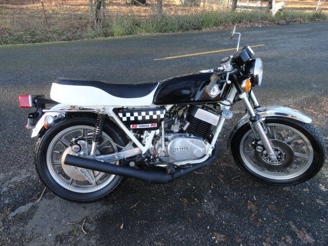 1977 Yamaha RD400 All Rebuilt extended swingarm clear title street legal racer