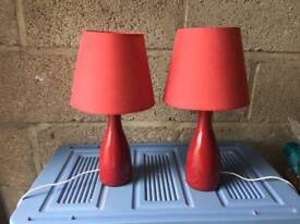 Pair of Homebase lamps - selling for charity - South Brent & District Caring